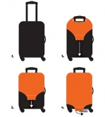 Чехол для чемодана LOQI LUGGAGE COVER M - URBAN Thailand